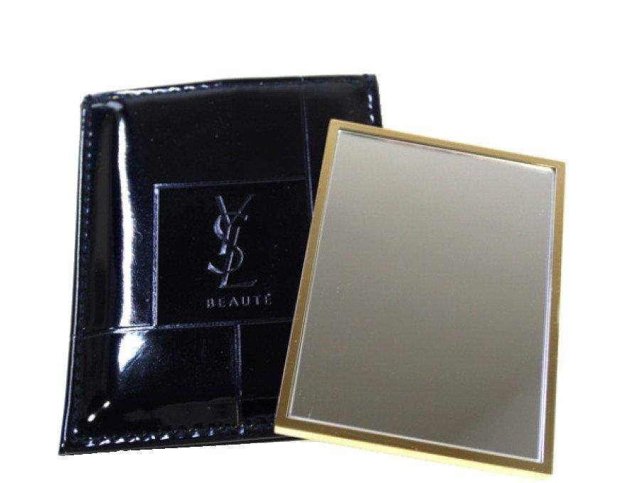 【展示品】イブサンローラン YSL ノベルティ 鏡 ミラー BEAUTE  エナメルケース ゴールドの商品画像