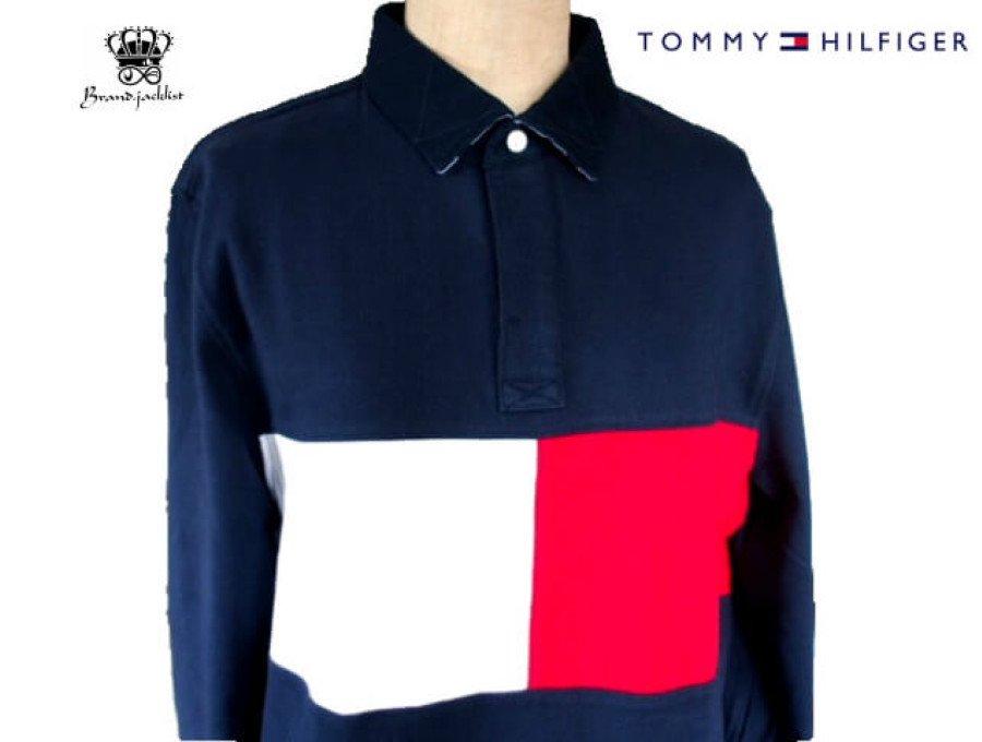 【新品】トミーヒルフィガー TOMMY HILFIGER 長袖シャツ フラッグ USA 日本未発売 Mの商品画像