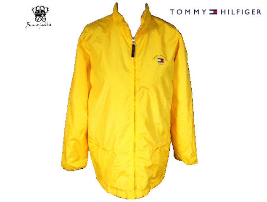 【中古】トミーヒルフィガー TOMMY HILFIGER ナイロンジャケット イエロー XLサイズの商品画像