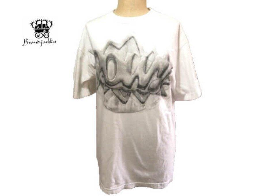 【中古】ロックスター Roc Star 半袖 Tシャツ POW 綿 ホワイト メンズ Mサイズの商品画像