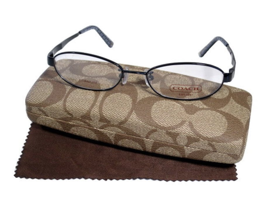 【美中古】コーチ COACH 眼鏡 メガネ シグネチャー ブラックフレーム ケースの商品画像