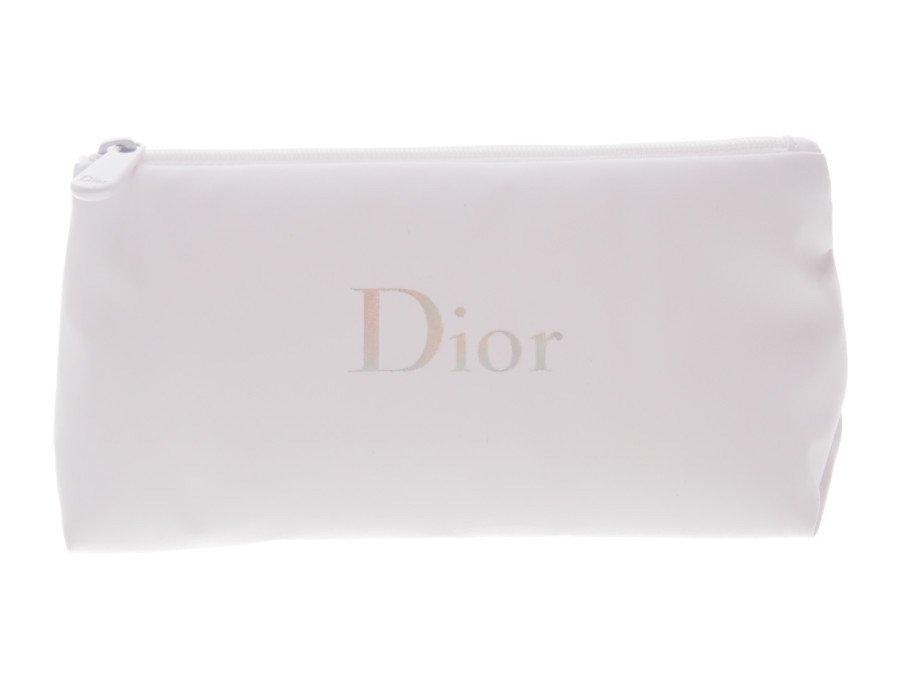 【新品】クリスチャンディオール Dior ノベルティ コスメポーチ ホログラムロゴ 白の商品画像