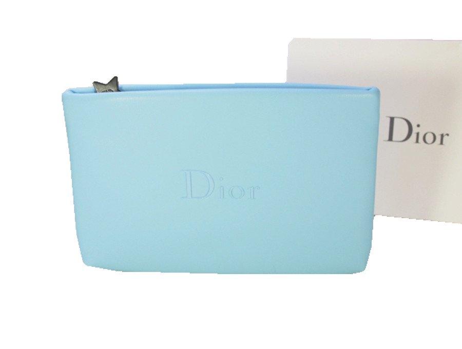 【新品】クリスチャンディオール Dior ノベルティ ポーチ スターチャーム 水色の商品画像