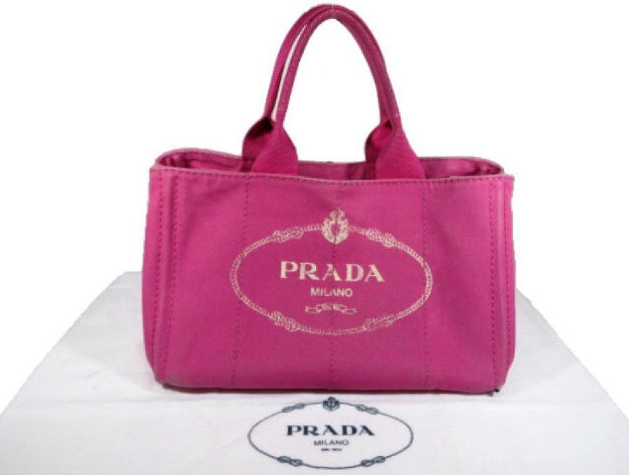 【中古】プラダ PRADA トートバッグ ハンドバッグ カナパ M ピンク BN1877の商品画像