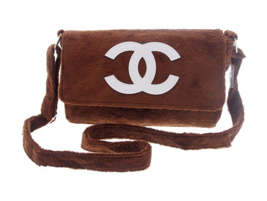 【新品】シャネル CHANEL ノベルティ ショルダーバッグ ブラウン ホワイトロゴの商品画像