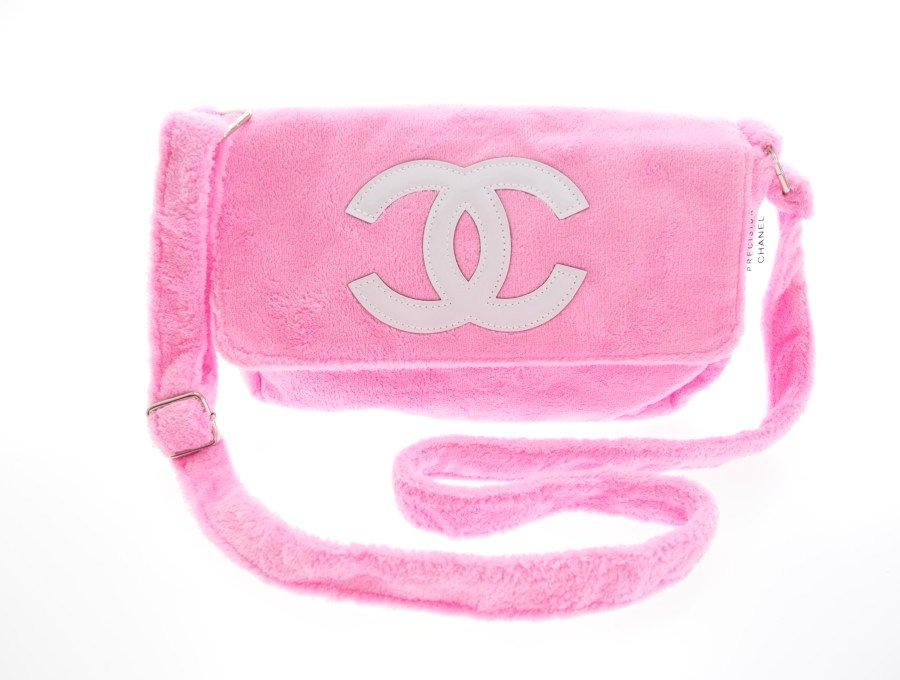【新品】シャネル CHANEL ノベルティ ショルダーバッグ ピンク 白ロゴの商品画像
