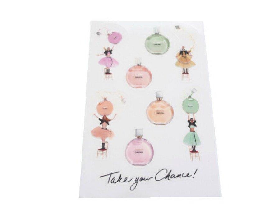 【新品】シャネル CHANEL ノベルティ ステッカー シール 香水 チャンス 9枚の商品画像