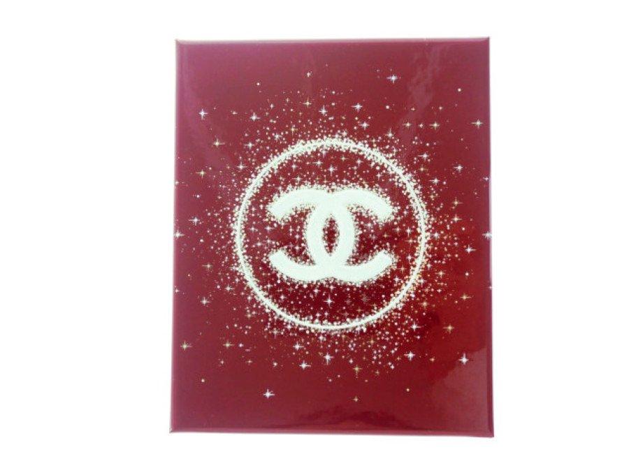 【新品】シャネル CHANEL ラッピング ギフトボックス クリスマスコフレ 空箱 レッドの商品画像