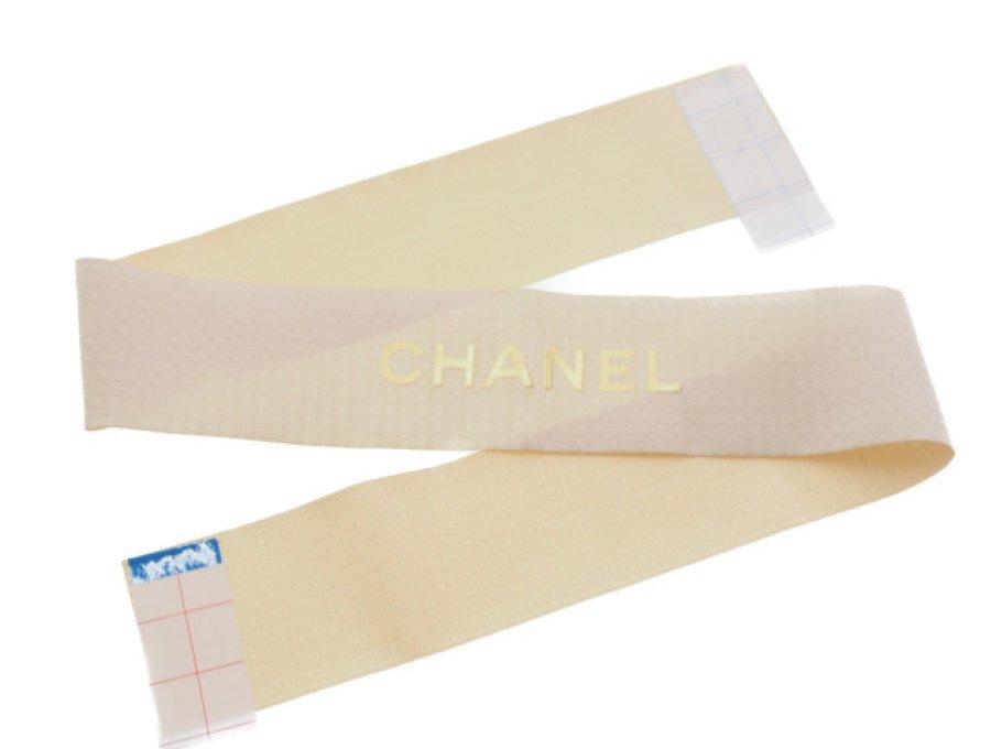 【展示品】シャネル CHANEL ワイドリボン ラッピング ロゴ入り ゴールド 83cm テープ付の商品画像
