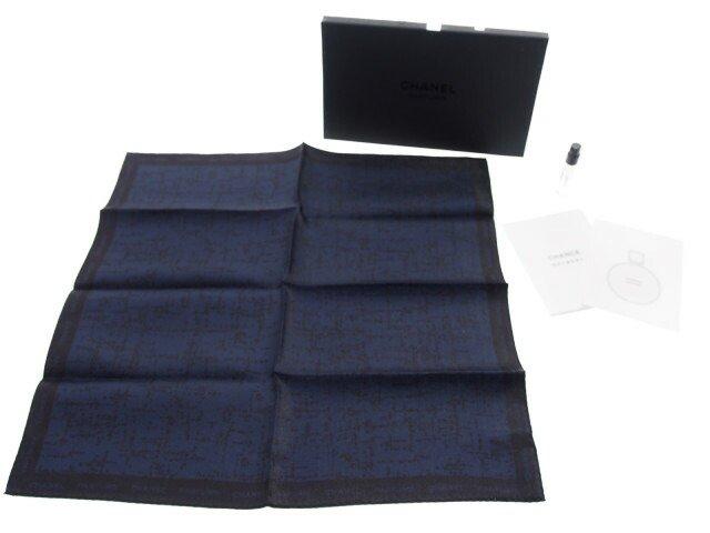 【新品】シャネル CHANEL ノベルティ 香水 ハンカチ ブルー ドゥ BLEU de CHANELの商品画像