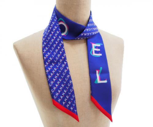 【新古品】試着 シャネル CHANEL ツイリー スカーフ バンドー トリコロールの商品画像