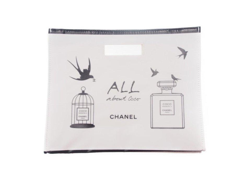 【新品】シャネル CHANEL ノベルティ ハンドバッグ ココマドモアゼル 鳥かご 香水 白の商品画像