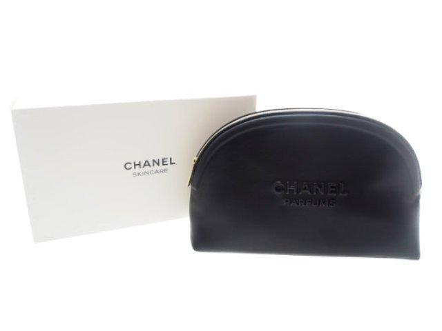 【新品】シャネル CHANEL ノベルティ パフューム コスメポーチ 2020 ラウンド 黒の商品画像