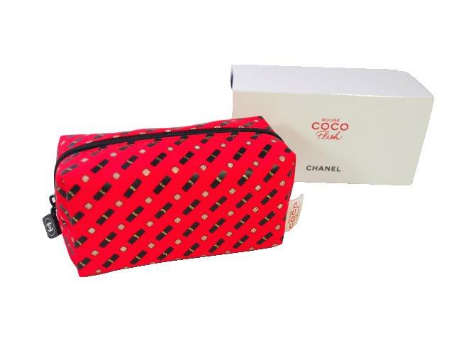 【新品】シャネル CHANEL ノベルティ ココルージュ フラッシュ ポーチ ROUGE COCO 赤の商品画像