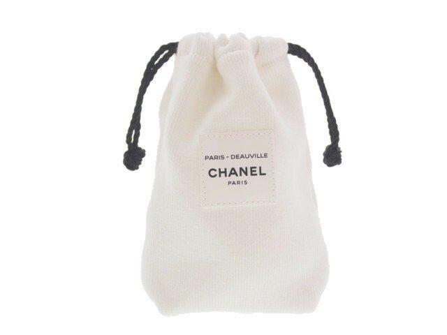 【新品】シャネル CHANEL ノベルティ 巾着 ポーチ ドーヴィル PARIS-DEAUVILLE コットン ホワイトの商品画像
