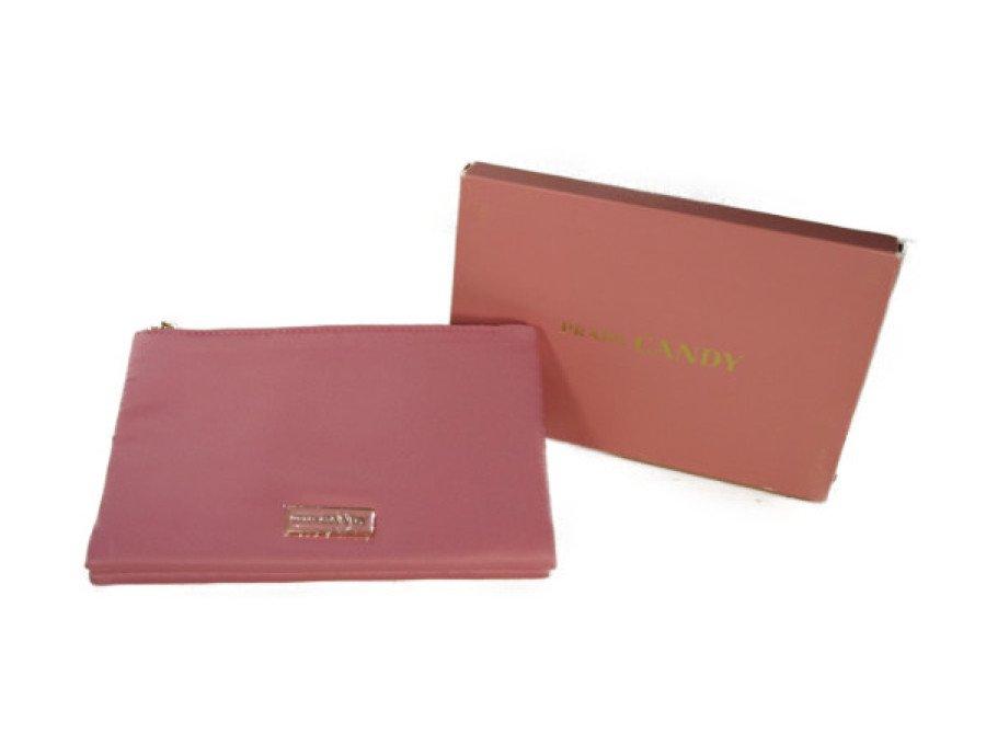 【展示品】プラダ PRADA ノベルティ ツインポーチ CANDY コスメ ピンク 元箱付きの商品画像