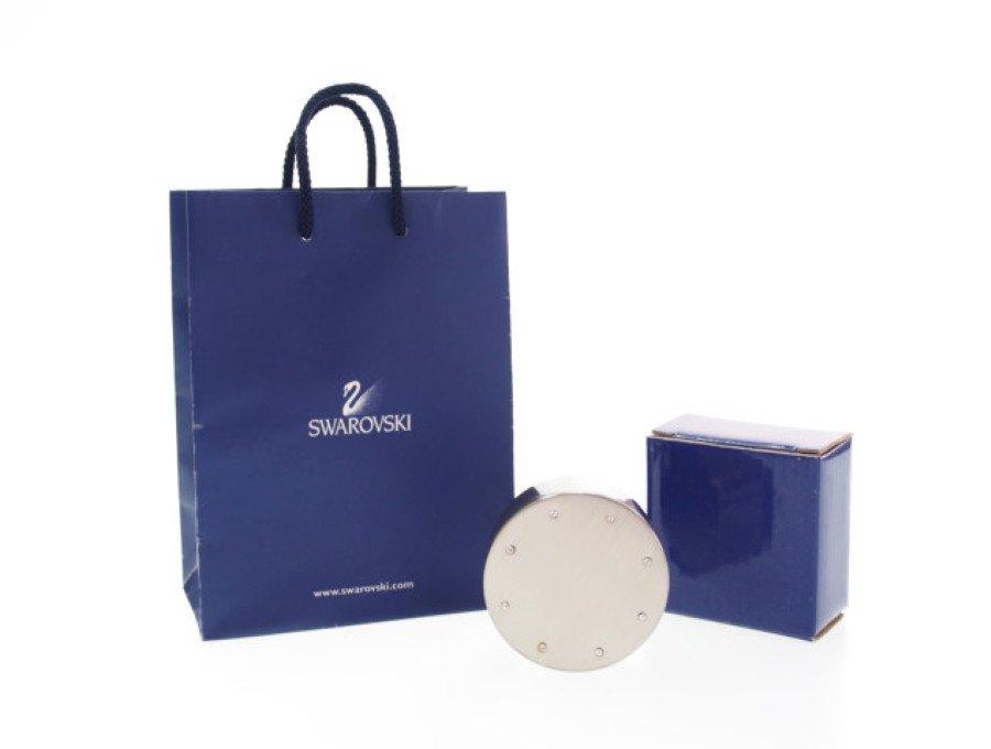 【新品】スワロフスキー SWAROVSKI ノベルティ ジュエリーケース 小物入れ 8粒 ストーン シルバーの商品画像
