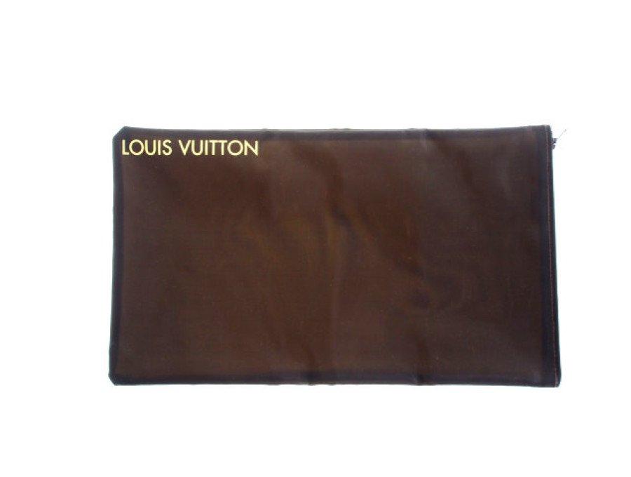 【新品】ルイヴィトン LOUIS VUITTON ノベルティ メッシュポーチ 横長ポーチ ダークブラウンの商品画像