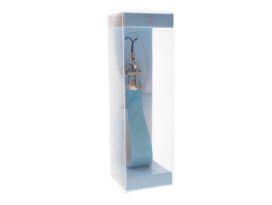 【新品】ジバンシィ GIVENCHY ノベルティ ストラップ キーホルダー π パイサイン ライトブルーの商品画像