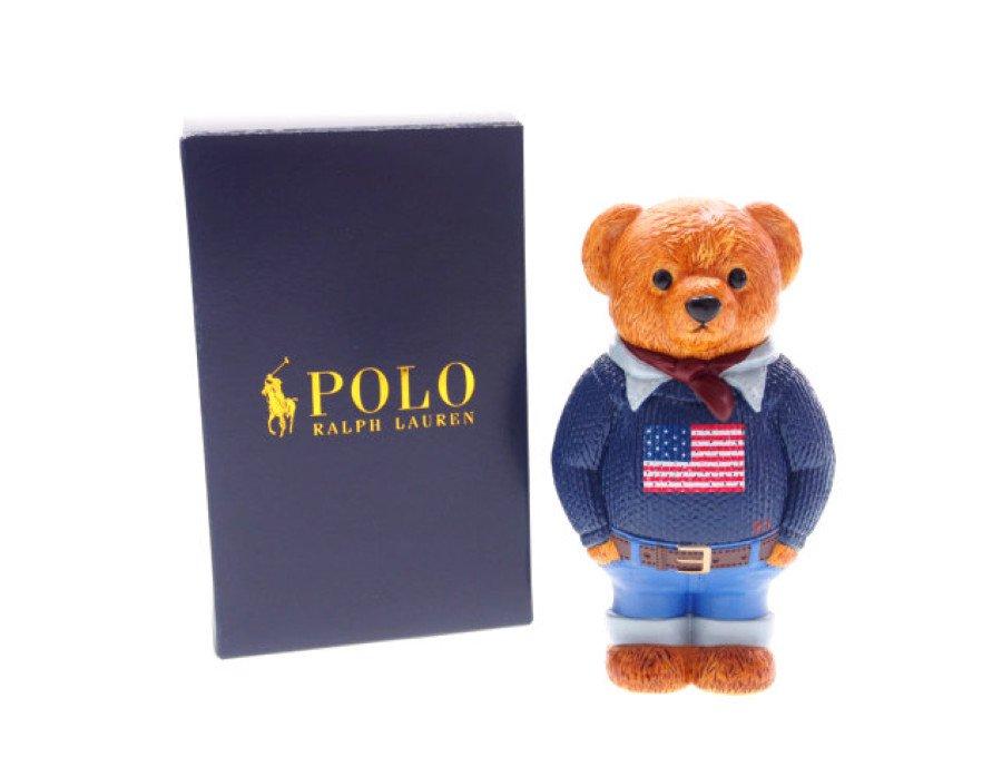 【新品】ラルフローレン RALPH LAUREN ノベルティ ポロベアトイ POLO テディベア 熊 フィギィア 元箱付きの商品画像