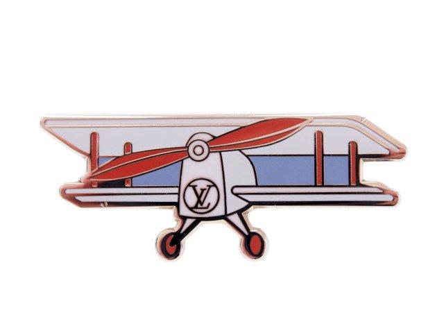 【新品】ルイヴィトン LOUIS VUITTON ノベルティ ヴォヤージュ ピンバッジ 飛行機 N.Y店舗 2017の商品画像