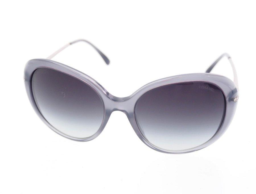【美中古】シャネル CHANEL サングラス 眼鏡 シルバーテンプル グラデーショングレー レンズ 美品完備 ケース付きの商品画像