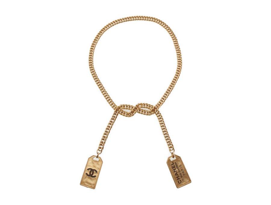 【新品】シャネル CHANEL ブティック ネックレス コスチュームジュエリー 31 RUE CAMBON PARIS 喜平チェーン 結び仕様 ゴールドの商品画像