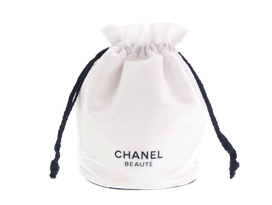 【新品】シャネル CHANEL ノベルティ シャネルビューティー 巾着ポーチ 丸底 BEAUTE 白の商品画像
