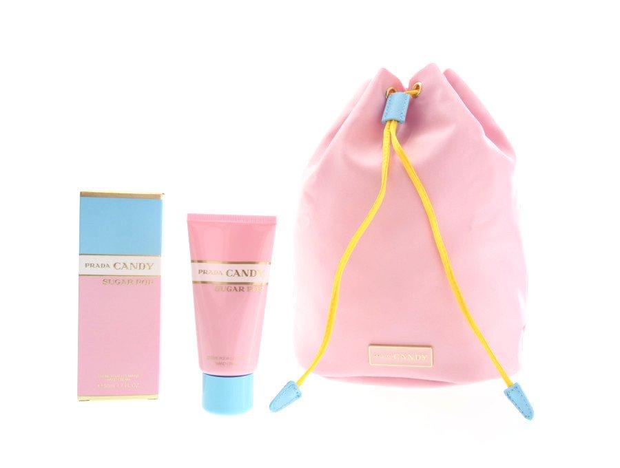 【新品】プラダキャンディ PRADA CANDY ノベルティ 巾着ポーチ&ハンドクリーム 50ml パステルカラー ピンクの商品画像