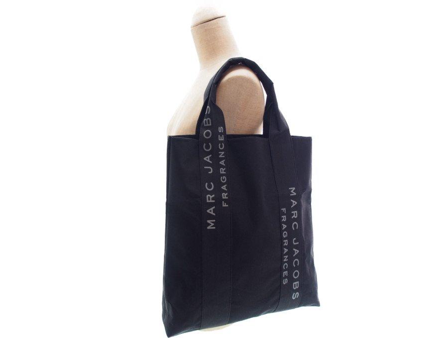 【新品】マークジェイコブス MARC JACOBS ノベルティ フレグランス トートバッグ ショルダーバッグ FRAGRANCES ブラックの商品画像