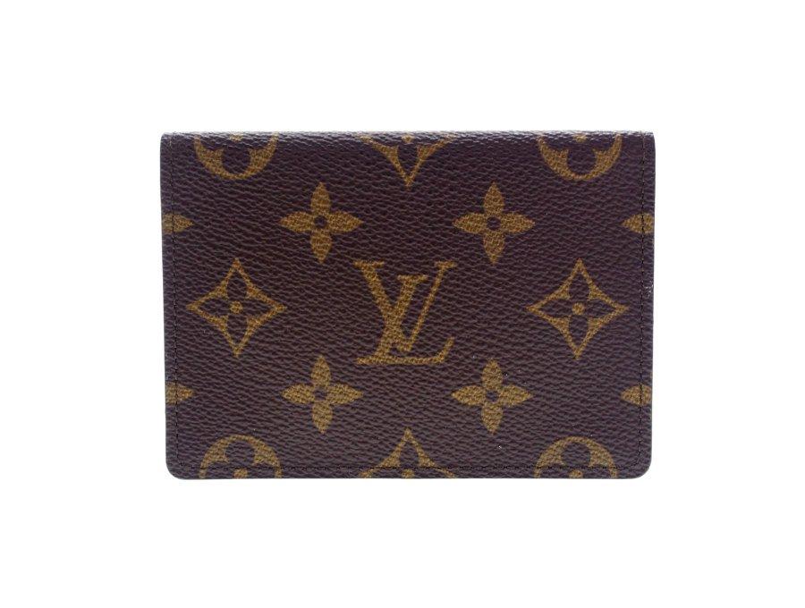 【美品】ルイヴィトン LOUIS VUITTON パスケース 定期入れ カードケース 2つ折り モノグラム ブラウンの商品画像