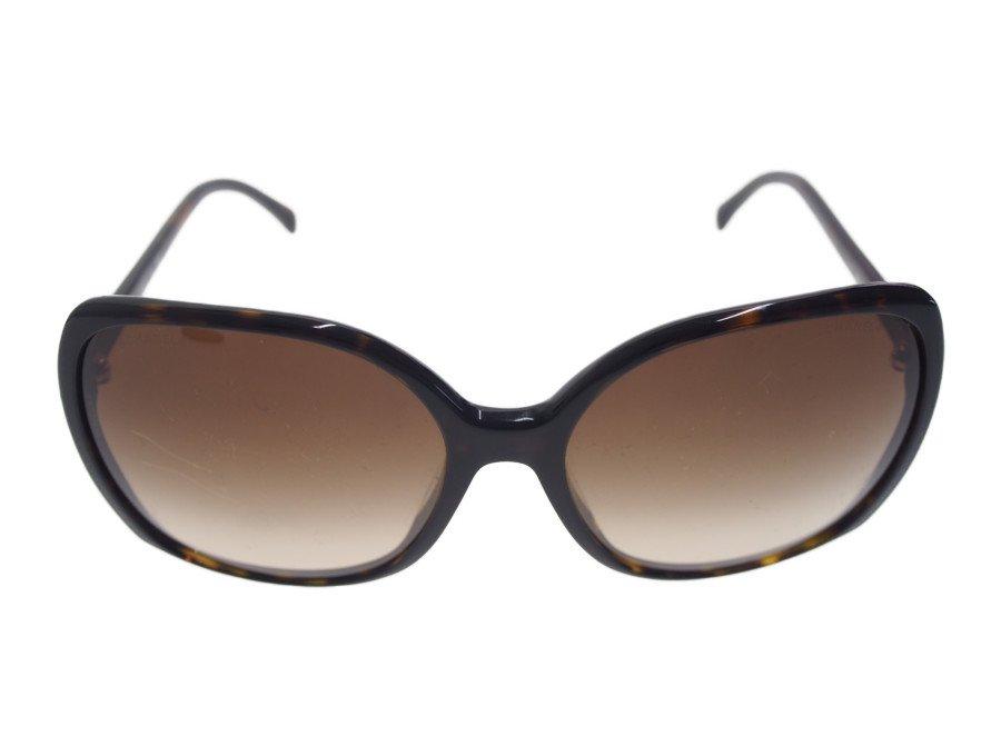 【中古】シャネル CHANEL サングラス 眼鏡 べっ甲 ブラウンフレーム グラデーションレンズ  CCモノグラム 収納巾着付き の商品画像