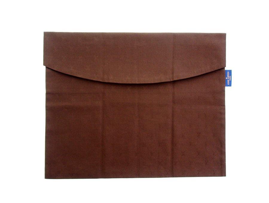 【新品】ルイヴィトン LOUIS VUITTON シャツケース 衣類入れ トラベル収納ポーチ モノグラム コットン100% ブラウン ヴィンテージの商品画像