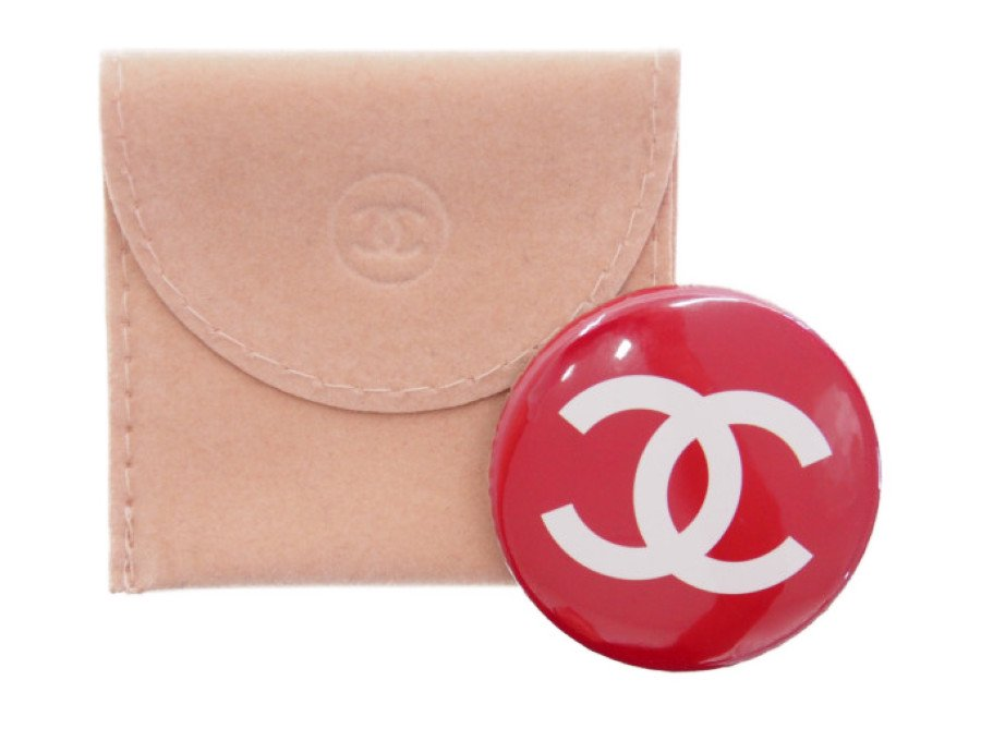 【新品】シャネル CHANEL ノベルティ ヴィンテージ 缶バッジ 赤の商品画像