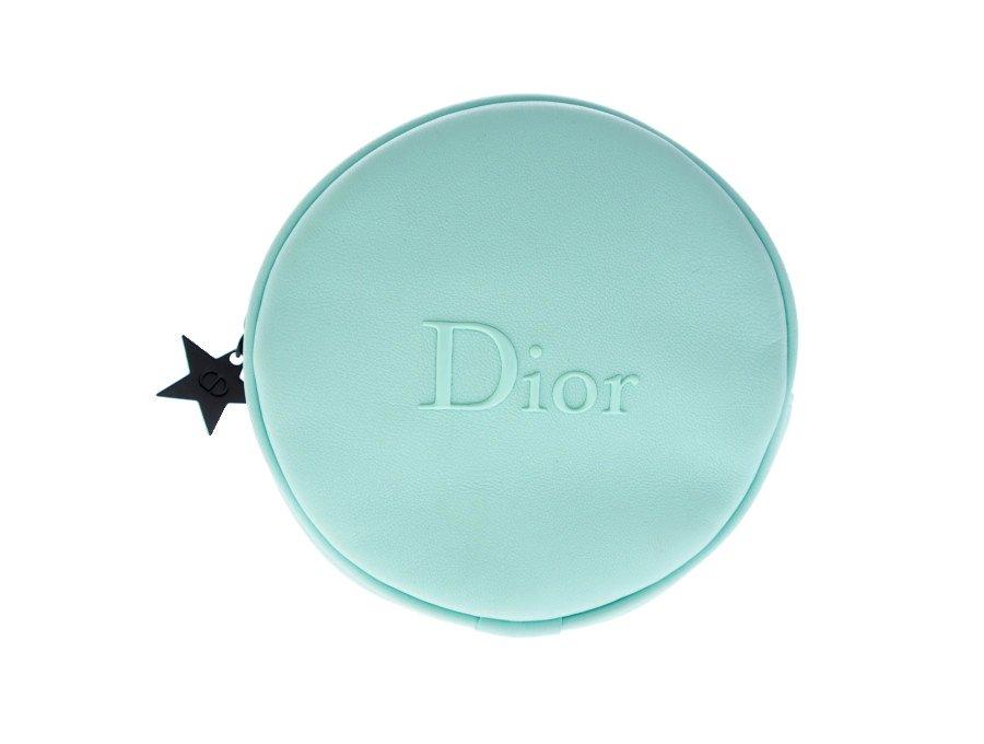 【展示品】クリスチャンディオール Dior ノベルティ ディオールビューティー コスメポーチ 丸型 ラウンドファスナー 星 BEAUTE ミントグリーン の商品画像