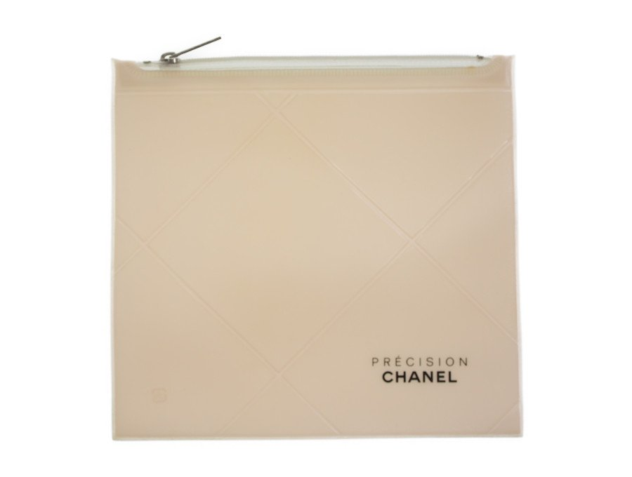 【展示品】シャネル CHANEL ノベルティ クリアポーチ コスメ付属品 NYプレシジョン PRECISION 半透明 ペールピンク ヴィンテージの商品画像