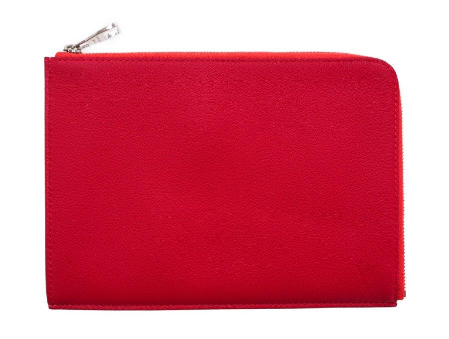 【美品】ルイヴィトン LOUIS VUITTON ポシェット・ジュールPM タブレットケース クラッチバッグ トリヨンレザー R99586 レッド 廃番モデルの商品画像