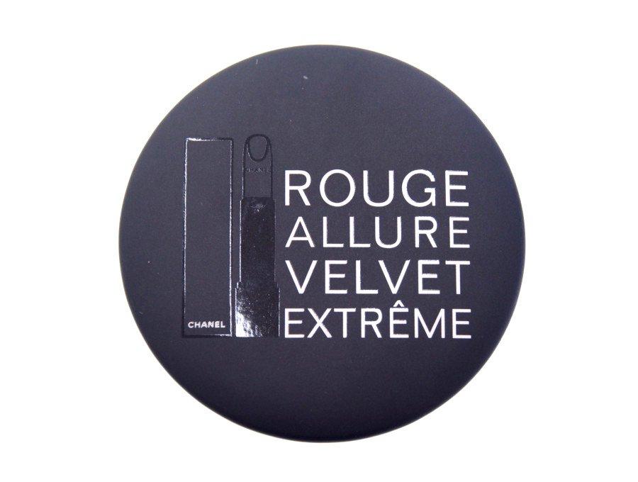 【新品】シャネル CHANEL BEAUTE ノベルティ 鏡 ラウンドミラー ルージュアリュール ROUGE ALLURE VELVET EXTREME ブラックの商品画像