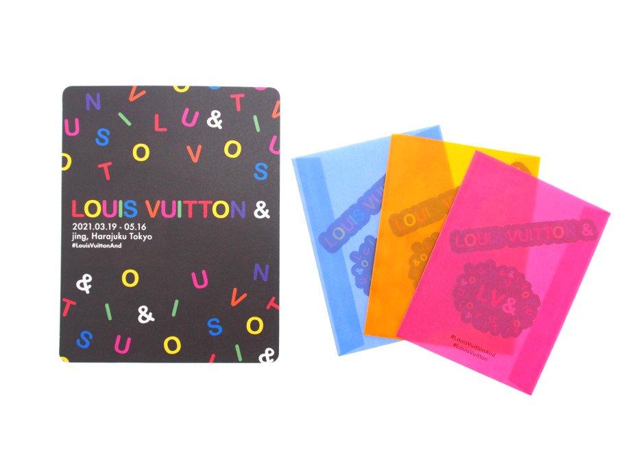 【新品】ルイヴィトン LOUIS VUITTON ノベルティ ステッカー シール 3枚 LV& 原宿ポップアップ ストア限定 ブルー オレンジ ピンクの商品画像