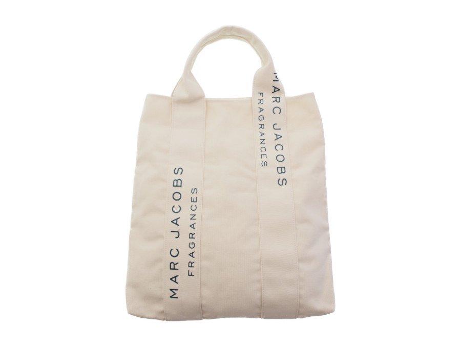 【新品】マークジェイコブス MARC JACOBS ノベルティ フレグランス トートバッグ ショルダーバッグ FRAGRANCES ホワイト ベージュの商品画像
