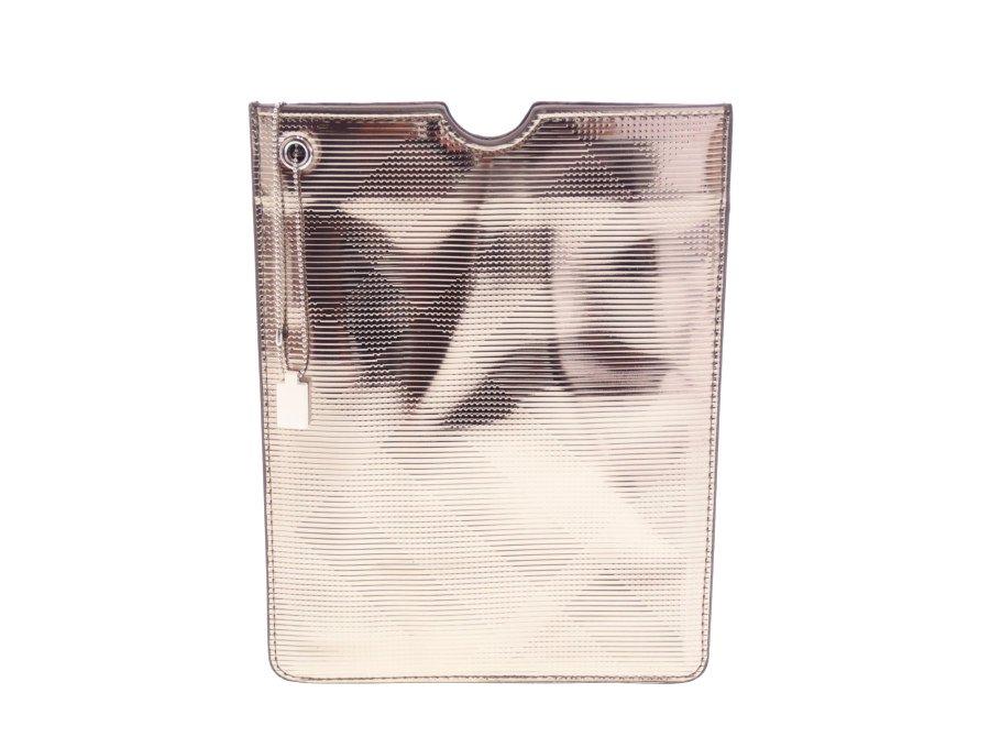 【新品】バーバリー Burberry BEAUTY タブレットケース mini タブレットカバー 7.9インチ バーバリーチェック メタリックゴールド ボールチェーンストラップの商品画像