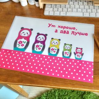 パンダのクリアファイル(リーゼントもいるよ!)