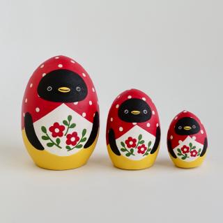 ペンギン・マトリョーシカ《たまご型3人組》