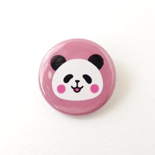 パンダの缶バッジ《ピンク》
