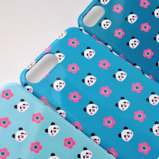 花とパンダのiPhoneケース
