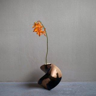 WALTZ 花器 吹分銅黒(ブロンズ×真鍮)
