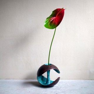 POLAR 花器(茶緑青)