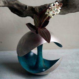 POLAR 花器(銀緑青)