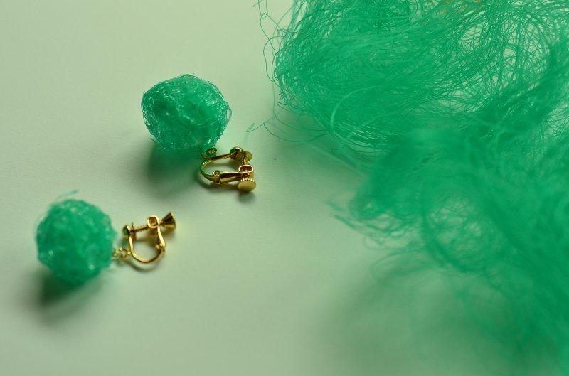 漁網のイヤリング