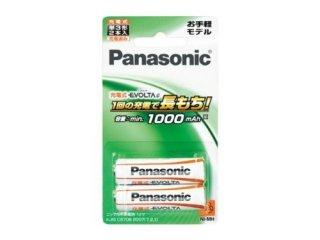 充電式エボルタ 単3形2本パック(お手軽モデル) [BK-3LLB-2B] -パナソニック(Panasonic)充電器 充電池 電池 ニッケル水素電池 家電